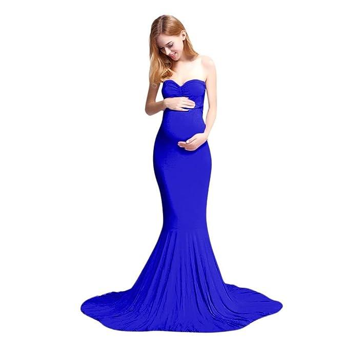 b1ac1cae5 K-youth Vestidos Largos Embarazada Fiesta Vestidos Embarazada Fotografia Vestido  para Mujeres Embarazadas Vestidos De