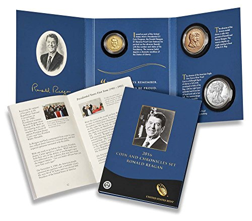 2016 W P S Presidential Coin & Chronicles Set Ronald Reagan 16PA Mint Packaged (Reagan Bronze)
