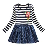 SUNNY Store Baby Girl Dress, Toddler Kids Cute Flower Print Embroidery Princess Party