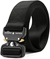 Fairwin Tactical Belt, Military Style Webbing Riggers Web Belt with Heavy-Duty Quick-Release Metal Buckle in Delicate...