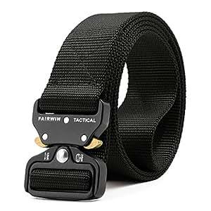 Amazon Com Fairwin Tactical Belt Military Style Webbing