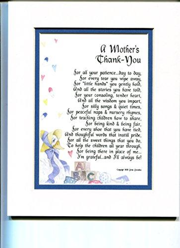 A Gift Present Poem for A Daycare Provider, Nursery School Teacher Or Pre-School Teacher. #134,