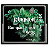 Kingston Elite Pro 8 GB 133x CompactFlash Memory Card CF/8GB-S2
