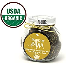 Pride Of India - Organic Energize Ayurveda (Tulsi Black) Tea, 1.25oz Gourmet Handmade Jar (Makes 25 Cups)