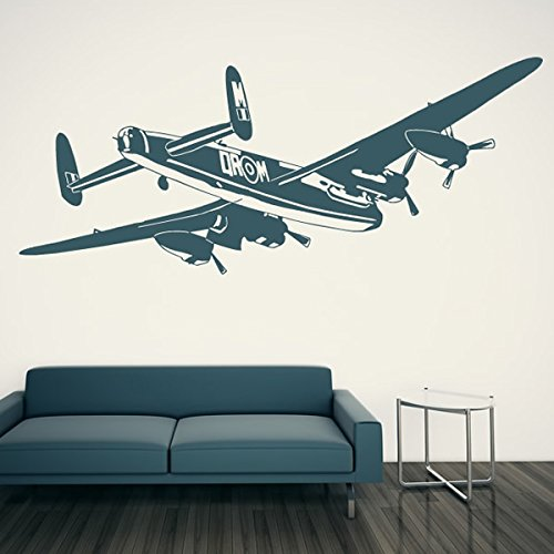 Raf Airplane - azutura Bomber Aeroplane Wall Sticker RAF Fighter Airplane Wall Decal Boys Bedroom Decor available in 5 Sizes and 25 Colours X-Small Strawberry Red