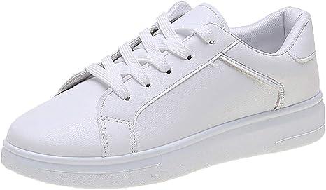 Zapatillas para Mujer Zapatos Blancos Mujer Zapatos Casuales con ...