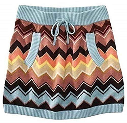 Missoni for Target® Sweater Skirt - Girl's Size: M / Light Blue/ Multicolor Zigzag/Stripe Print