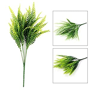 FYYDNZA New Green Plant Leaves Grass Decorative Flowers Artificial Flowers For Home Decoration Artificial Grass 2