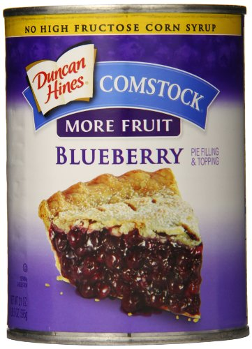 Comstock More Fruit Pie Filling & Topping, Blueberry, 21 Ounce (Pack of 8)