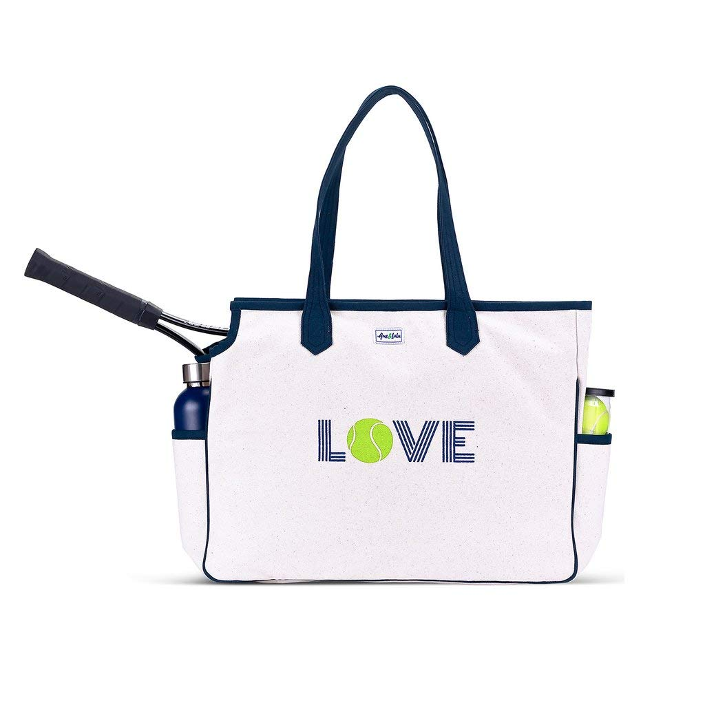 Ame & Lulu Love All Tennis Court Bag, Green Love
