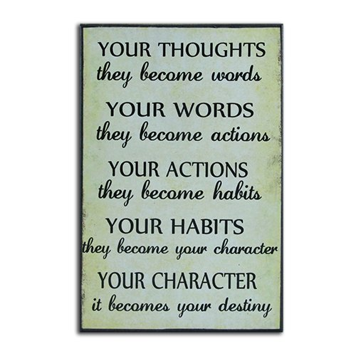 ressions - Your Thoughts, Words, Actions, Habits, Character Wall Plaque (6.3