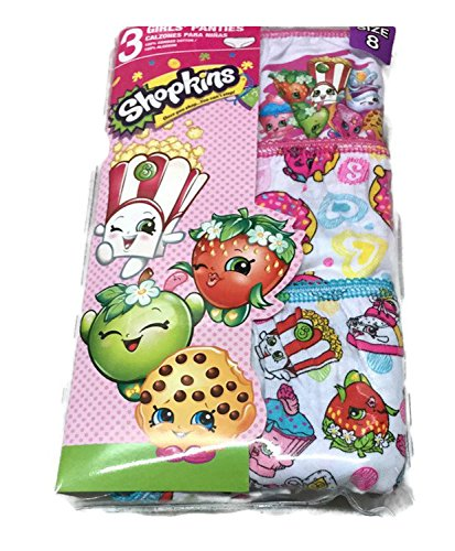 Shopkins Little Big Toddler Girls Briefs Underwear 3 Pairs of Panties Sizes  Assorted 4