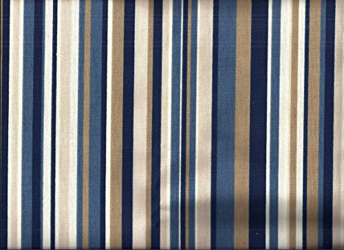 Stripe Valance - Blue Stripe Valance