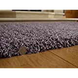 Shaggy Thick Modern Luxurious Heather Rug High Pile Long Pile Soft Pile Anti Shedding Available in 9 Sizes (66cm x 120cm 2ft 2 x 3ft 11) by SuperRugStore
