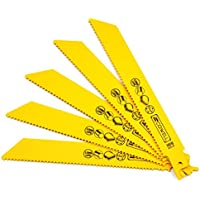 10PCS 6 inch Length 10TPI Reciprocating Saw Blades for Wood and Nail Cutting for Reciprocation Saw
