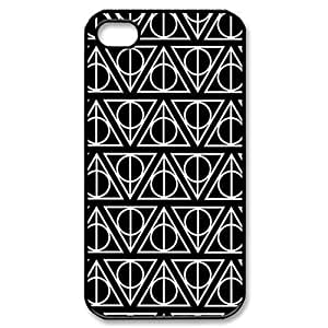 Harry Potter Deathly Hallows - black Hard Cover Case for iPhone 4/4s case