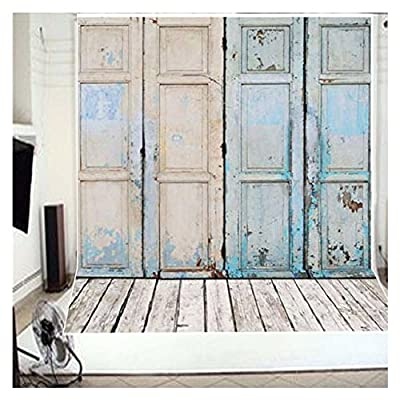 3-5 Business Days FAST Delivery Retro Door Theme Wooden Floor Studio Photo Photography Background Studio Backdrop Props best for Personal Photo Wall Decor Baby Newborn Photo 3x5ft