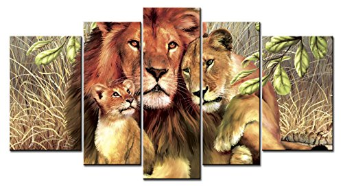 Animal Series Home Decor Artwork Big Cats lion  Her Baby Wall Art   Paintngs Print on Canvas