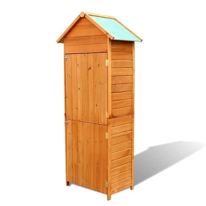 Tuduo Wasserdichter Schrank für den Garten, aus Holz, Schlichtes Design, elegant, robust und stabil für den Außenbereich