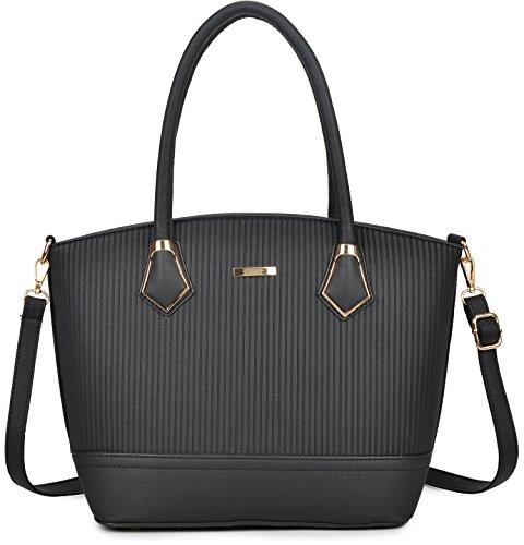 Bag Bag PCS Tote Black Women 3 Purses Set Handbags Women 2 Set Shoulder Gift and for wPzIxqFx