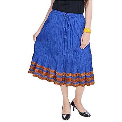 Long Skirt Terquise Blue Cotton Handicrfats Indian Export SMSKT522 Women Dark TqXaf