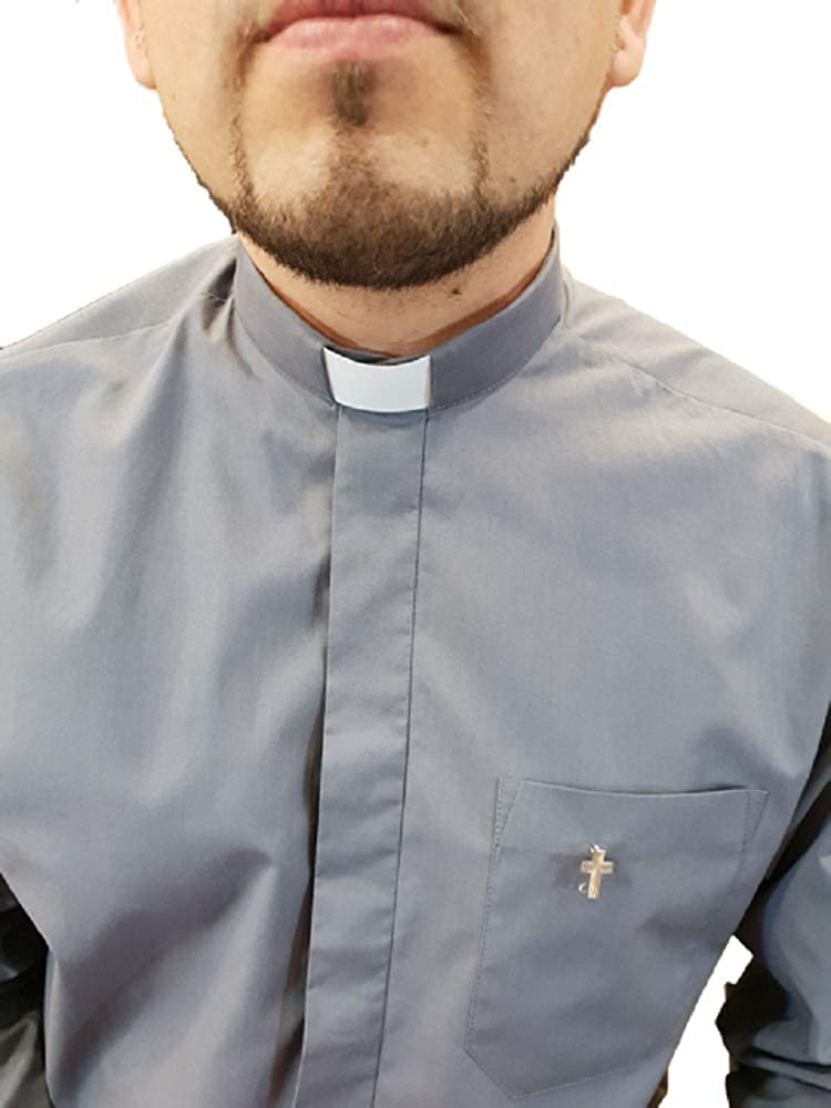 ANCORA INDUMENTA Camisa Sacerdote Clergyman - Manga Larga: Amazon ...