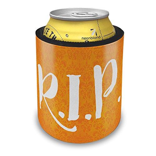 NEONBLOND RIP Halloween Orange Wallpaper Slap Can Cooler