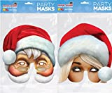 MODO Mr and Mrs Claus Santa Cardboard Funny Masks