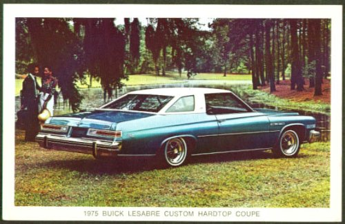 1976 Buick LeSabre Custom coupe postcard