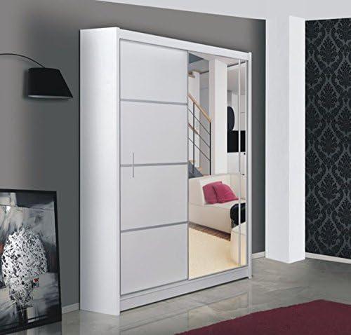 GardiDekor Armario Vista Disponible en Blanco, con Espejo, Ancho: 150 cm/180 cm/203 cm/250 cm: Amazon.es: Juguetes y juegos