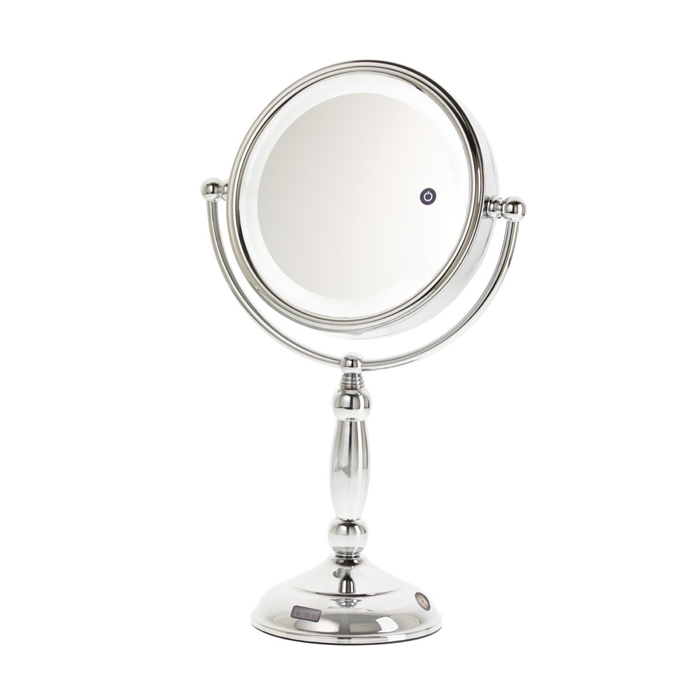 Danielle 10X Magnification LED Lighted Sensor Vanity Mirror with 3 Settings, Chrome