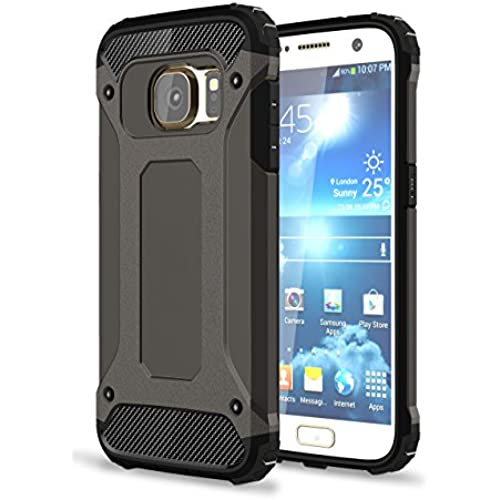 S7 Case, Galaxy S7 Case, Hasting [Drop Protection] [Impact Resistant] Dustproof Dual-layer Armor Hybrid Steel Style Protective Case for Samsung Galaxy S7 (Black) Sales