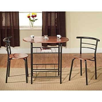 TMS 3 Piece Bistro Set Black Espresso