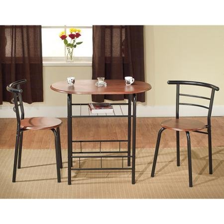 TMS 3-Piece Bistro Set, Black/Espresso
