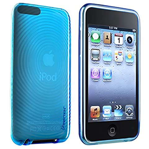 Everydaysource Compatible With AppleiPodGen2/3 Touch TPU Case , Clear Blue Con Circle (Ipod Touch Gen3 Case)