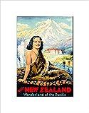 TRAVEL NEW ZEALAND WONDERLAND MOUNTAIN GEYSER MAORI FRAMED ART PRINT B12X6491