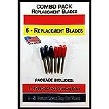 COMBO 45/60 -6 Replacement Blades for Cutting Machines, Bridge, Cricut, Roland