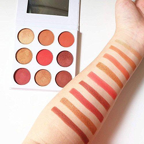 burgundy palette cosmetics powder shimmer