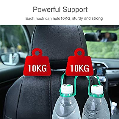 Car Hooks Car Seat Back Hooks with Phone Holder, Universal Vehicle Car Headrest Hooks Hanger with Lock and Phone Bracket for Holding Phones and Hanging Bag, Purse, Cloth, Grocery-(Black 2 Pack): Industrial & Scientific