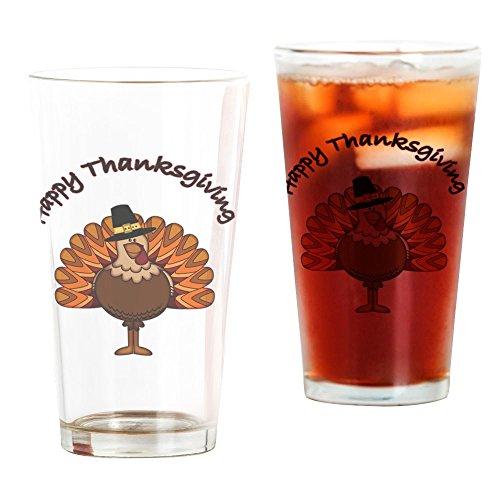 Thanksgiving Glass (CafePress Thanksgiving Turkey Pint Glass, 16 oz. Drinking Glass)