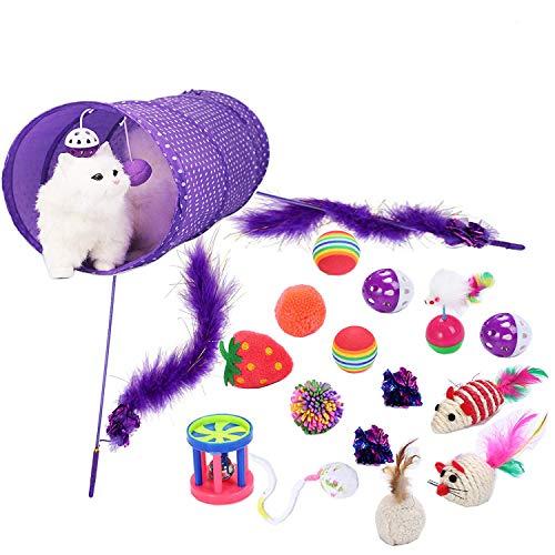 Legendog Katzenspielzeug Set, 6/10/17 Stück Katzen Spielzeug | Katzenangel Maus Bälle Katzenspielzeug | Handgemachte…