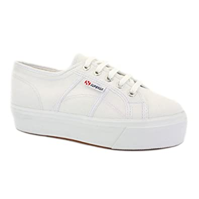a974b6c9aa57 Superga 2790 Acotw Flatform Womens Laced Canvas Trainers White - 5   Amazon.co.uk  Shoes   Bags