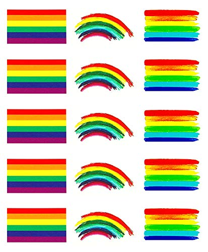 1b3474ee5d70c Conpru 45 pieces Gay Pride Rainbow Temporary Tattoo, Waterproof Rainbow  Flag Tattoo Stickers for Gay