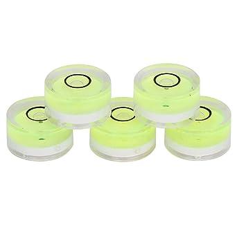 5pcs 15mm Libelle Wasserwaage Bubble Mini Runde Messwerkzeug Für Horizontale Kalibrierung Der Balance Elektronische Waage Kamera Plattform Gewerbe Industrie Wissenschaft