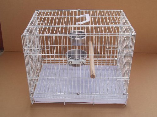 Collapsible Travel Bird Cage 24″ L16.5″W 20.5″H White, My Pet Supplies