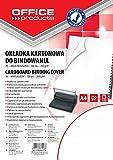 Okladki do bindowania Office Products A4 kartonowa blyszczaca 100 sztuk biala