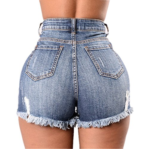 Shorts Color Taille BBethun Stitching Blue Hole Femmes XL Size Haute Blue Jeans xr1wrX60