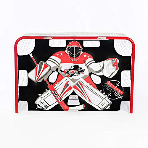 (HockeyShot Extreme Shooter Tutor | Red Black and White Shooting Tarp for Use on Goals | Target Practice Team Use | Improve Accuracy)