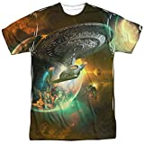 Trevco Next Generation Sci-Fi USS Enterprise Adult 2-Sided T-Shirt XL