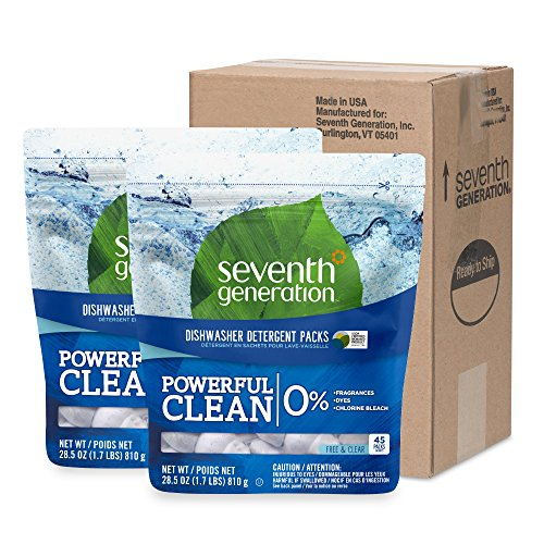 Seventh Generation Dishwasher Detergent Packs, Free & Clear, 90 count by Seventh Generation (Image #3)